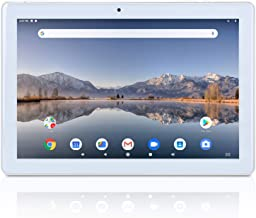 $109 » 10.1 inch Tablet Android 9.0 Pie Google GMS Certified Quad Core 2GB RAM 32GB ROM IPS Screen YELLYOUTH 10 in Tablets with GPS Bluetooth WiFi and Dual Camera - Silver