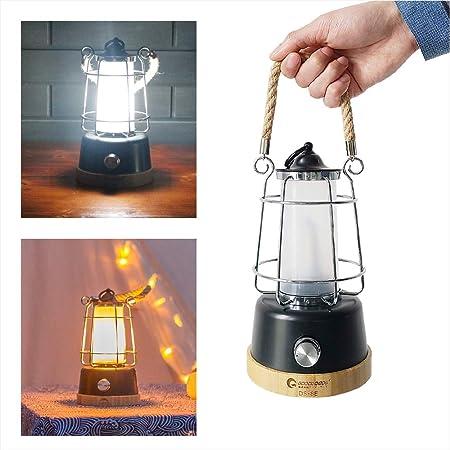 GOODGOODS Lights LED ライト 照明 ランプ ランタン キャンプ 災害時 充電式 台風 スマホ充電 両色変更 無段階調整 インテリア DS-8E…