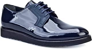 Cabani Bağcıklı Klasik Erkek Ayakkabı Lacivert Açma Rugan