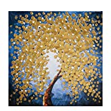yohica 3D Oil Paintings Canvas Wall Art Flowers Painting Prints Modern Wild Flowers Picture Artwork Framed Ready to Hang for Bedroom Living Room Bathroom Home Office Decor-ymx-007-20 x 20