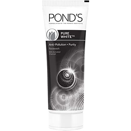 POND'S Pure White Anti Pollution Activated Charcoal Face Wash, 100 g