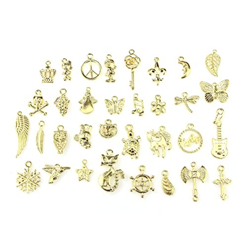 b3abc118d Charms, BESTIM INCUK Wholesale Bulk 50 Pack Mixed Gold Pendant Charms for  Jewelry Making Bracelet