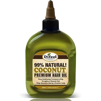 Difeel Premium 99% Natural Deep Conditioning Coconut Hair Oil 8 ounce