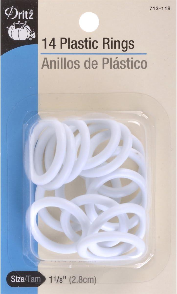 1-1//2-Inch 8-Count Dritz 713-112 Plastic Rings