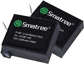 Smatree Battery (2 Pack) for Gopro Hero 4-NOT for Hero 5