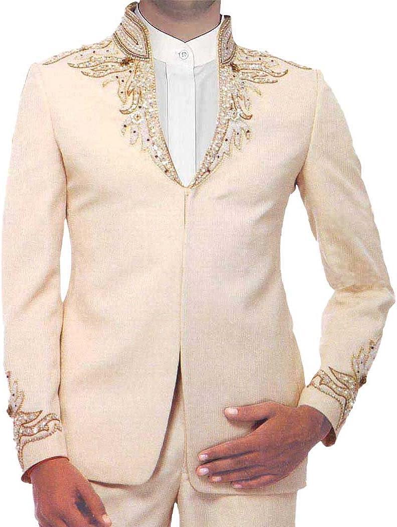 INMONARCH Mens Peach Designer Jodhpuri Suit Astonishing 3 Pc JO147