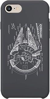 243897bc5f6 Star Wars Millenium Falcon Space Ship iPhone 6 7 8 X Plus Phone Case Cover  Estuche