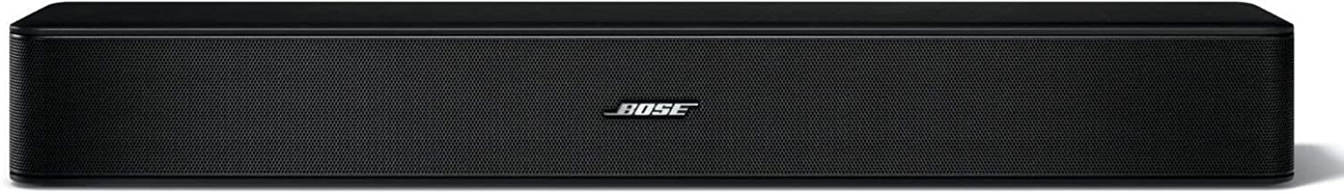 Bose Solo 5 TV Soundbar Sound System Sleek Slim Design Bluetooth Connectivity, Black (Renewed)