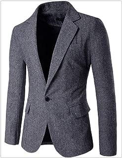 SUSIELADY Men's Blazer Jacket Herringbone Sport Coat Smart Formal Dinner Cotton Suits Slim Fit One Button Notch Lapel Coat