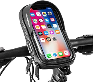 ROCKBROS(ロックブロス)スマホホルダー 自転車 スマホ ホルダー バイク 防水 防塵 遮光 小物収納 多機能 脱落防止 5.8/6.0インチ 360°回転可