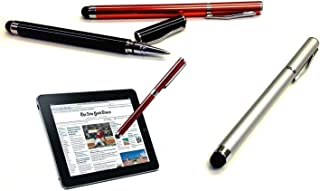 PRO Gionee Gpad G3 Custom High Sensitivity Touch Stylus + Writing Pen with Ink! [3 Pack - Silver Red Black]