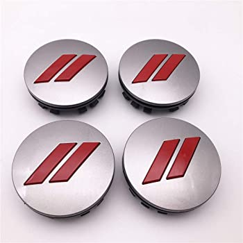 FT/&C 4 Pieces 2.5 64mm Black Red //// Car ABS Custom Hub Center Caps Cover for Charger Challenger with 20 Wheels 6CZ27DX8AA