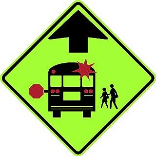 Best school bus stop ahead sign Reviews