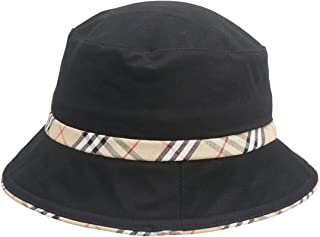 Unisex Plaid Bordered Summer Cap Outdoor Fishing Hunting Bucket Hat (4 Colors)