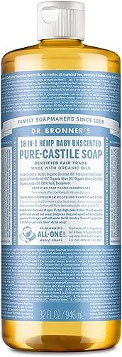 Savons magiques de Dr. Bronner - Dr. Bronner - Savon de Castille organique non parfumé Baby-Léger - 946 ml