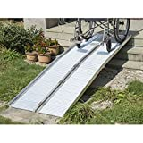 KCHEX 8' Aluminum Wheelchair Ramp Fold Handicap Scooter Ramp Portable Mobility