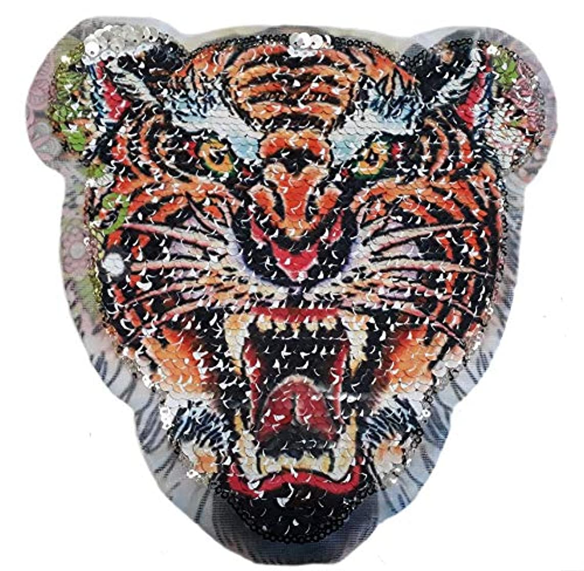 Multicolored Tiger Sequins Appliques for Clothes sew on
