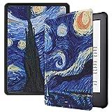 Lobwerk Funda para Amazon Kindle 2019 (10. Generación) Funda Smart Cover de 6 Pulgadas con función Atril y función de Encendido y Apagado automático. Azul 04