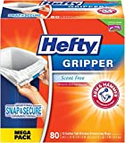 Hefty Gripper Tall White Trash Bags, Unscented, 13 Gallon, 80 Count