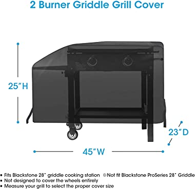 Unicook Griddle Cover for Blackstone 28 Inch Grill, Flat Top Cooking Station Grill Cover with Sealed Seam, Outdoor Heavy Duty