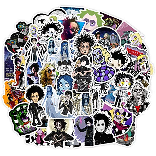 Tim Burtons The Nightmare Before Christmas Movies Theme Stickers Laptop Stickers Waterproof Skateboard Snowboard Car Bicycle Luggage Decal 50pcs Pack