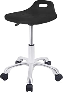 Rolling Stool with Wheels Desk Stool Round Roll Stool Chair Adjustable Shop Stool Swivel Stool Drafting Work SPA Salon Whe...
