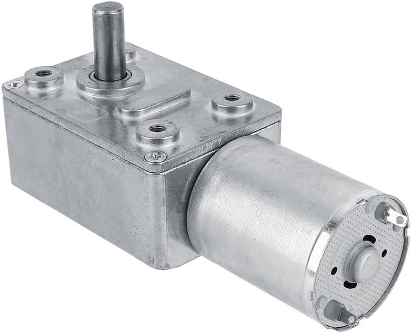 Wifehelper Motor Eléctrico con Engranaje de Reducción de Tornillo sin Fin de Turbo Reductor Reversible de 2RPM de 12V 12V