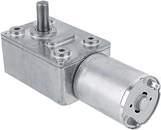 Akozon Motorreductor, Motorreductor de tornillo sinfín de alto par reversible, Motor de reducción CC 12V CW/CCW(5RPM)