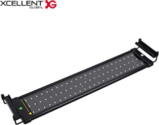 Xcellent Global 72 SMD LEDs Aquarium Light with Extendable Brackets Fish Tank Light White and Blue LEDs Size 20 to 27 inch LD159