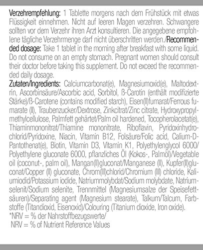 Body Attack Multi Vitamin, 200 Tabletten, 2er Pack (2x 140g), Dose - 4