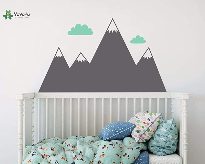 Vinyl Wall Decal Mountain Clouds Kids Baby Room Art Removable Home Papel De Parede Para Quarto Stickers FD558