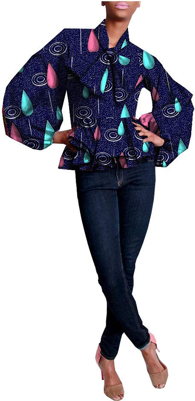 African Shirts For Women Ankara Dashikis Wax Prints Attire Casual Clothing 280 M