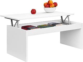 COMIFORT Mesa Centro Elevable - Mesa Salón Funcional con Gran Almacenaje Moderna Elegante Muy Resistente 2 Patas Colo...