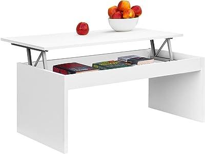 COMIFORT Mesa de Centro Elevable Moderna Mesita de Café Comedor o Salón, 100 X 50