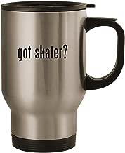 got skater? - Stainless Steel 14oz Road Ready Travel Mug, Silver