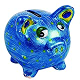 Colorations Decorate Your Own Piggy Bank, Ceramic, Set of 12, Coated Ceramic, DIY, Arts & Crafts, Gifts, Budgeting, Savings, for Kids, Educational, Craft Project