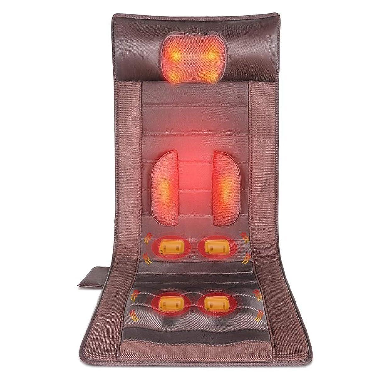 プライムすき伝説マッサージマットレス 頸部マッサージャー首肩ウエストフルボディ温水マッサージマットレス快適な家で完璧なマッサージをお楽しみください (色 : Picture, サイズ : FREE SIZE)
