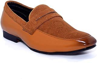 PAUL JOHN Kids Boys Tan Formal Shoes
