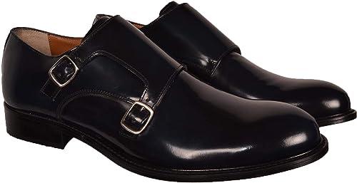 CESARE AUGUSTO chaussures hommes Eleganti Abrasivato bleu Con Fibbie Fibbie 2927ABRASIVATOALBERTObleu  jusqu'à 70% de réduction