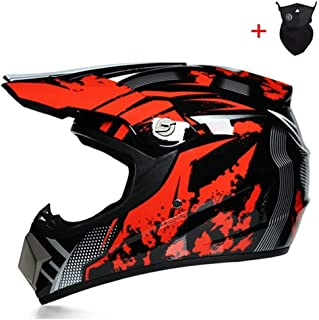 <h2>Qlkx Motocross Helm, Motocross Off Road Helmet, ATV Helm für Sicherheit Schutz, Unisex Motorradhelm,b,L</h2>