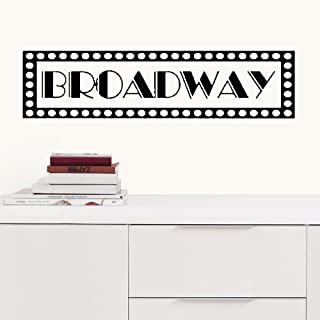YttBuy Quote Wall Decal Sticker, Vinyl Wall Decal Sticker, Broadway New York Sign Vinyl Wall Decal Sticker for Living Room (10x40 inch)