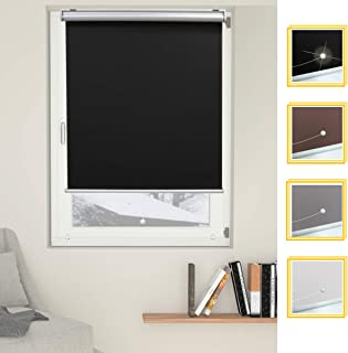 black and silver roman blinds