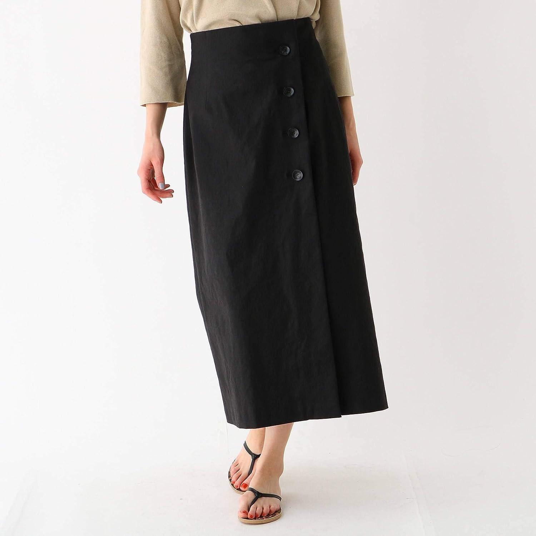 (ドレステリア) DRESSTERIOR リネン混ロングタイトラップ調スカート 08576074