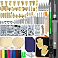 137PCS Wood Burning Kit, DIY Creative Tool Set Soldering Pyrography Pen with Adjustable Temperature and Wood Piece for Embossing Carving Tips