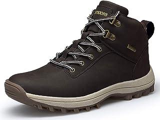 حذاء TSIODFO شتوي رجالي للثلوج مقاوم للماء في الهواء الطلق التنزه للرجال