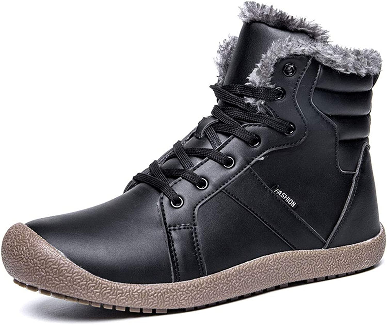 Unisex skor 2018 Nya snöskor High -Top Casual skor Hiking skor Lace Up gående skor Daily skor blå svart bspringaaa YAN (Färg  Svart, Storlek  45)