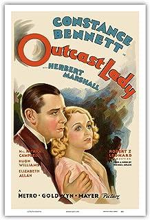 Outcast Lady Constance Bennett Vintage Film Movie Poster c.1935 Art Print 12 x 18 in Multi PRTB8423