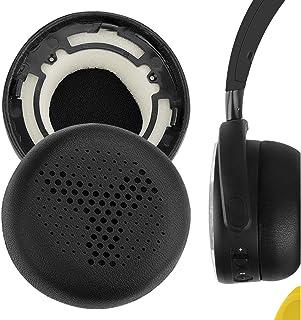 Geekria QuickFit - Almohadillas de repuesto para auriculares AKG Y500, Y 500 (piel), color negro