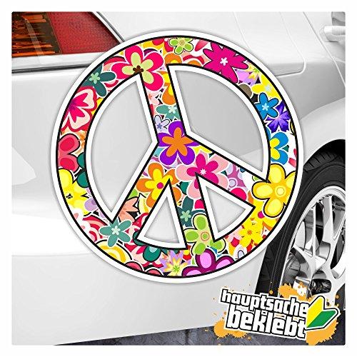 Kiwistar Peace in 7 Größen erhältlich Aufkleber Mehrfarbig Sticker Funsticker Colored
