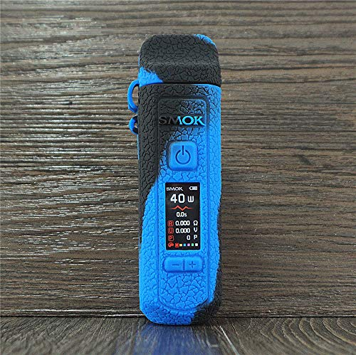 DEKPRO Silicone Protective Case for smok rpm40 System with Cap, Rubber Skin Cover Sleeve Shield Wrap (Black Blue)